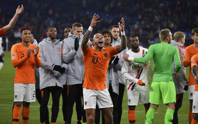 Üllataja Holland jõudis Rahvuste liiga finaalturniirile