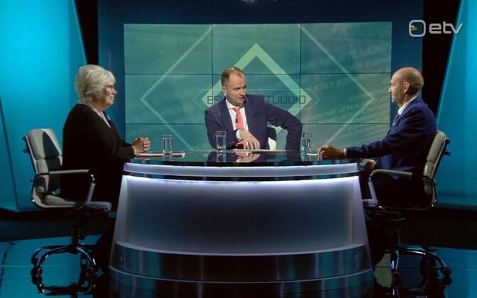 Marina Kaljurand, Helir-Valdor Seeder ja saatejuht Andres Kuusk