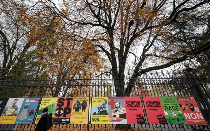 Kampaaniaplakatid Genfis.