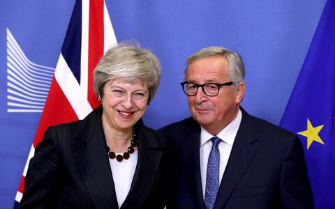 Премьер-министр Великобритании Тереза Мэй и председатель Еврокомиссии Жан-Клод Юнкер