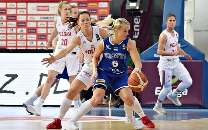 Kati Rausberg oli Poola vastu Eesti resultatiivseim.