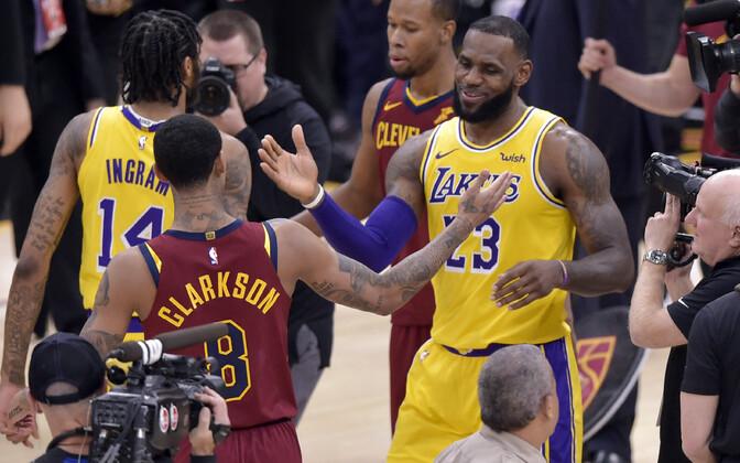 LeBron James mängus Cleveland Cavaliersi vastu