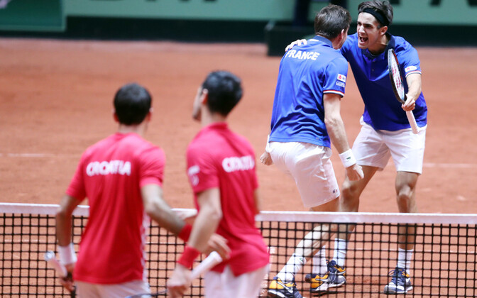 Davis Cupi finaal Prantsusmaa - Horvaatia. Paarismäng