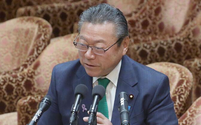 Jaapani küberjulgeolekuminister Yoshitaka Sakurada.