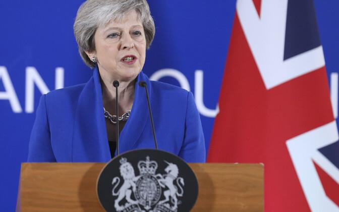 Терезе Мэй на саммите ЕС в Брюсселе.