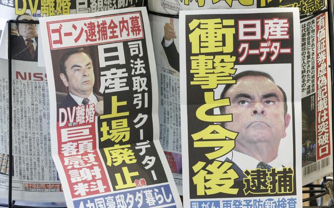 Carlos Ghosni foto Jaapani ajalehtedes.