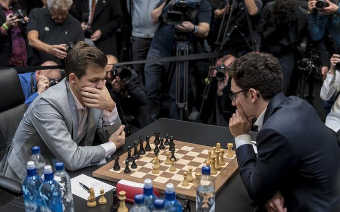Magnus Carlsen ja Fabiano Caruana