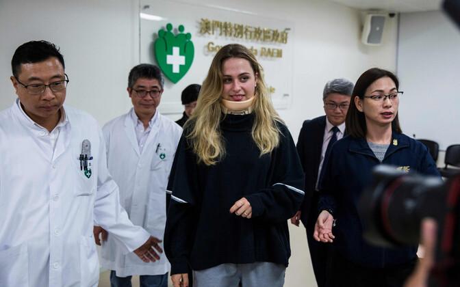 Sophia Flörsch andis enne Macaust lahkumist sealses haiglas ka pressikonverentsi.