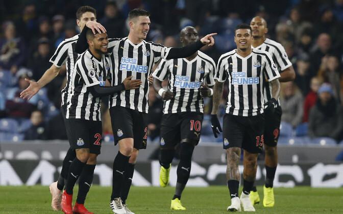 Newcastle'i mängijad rõõmustamas.