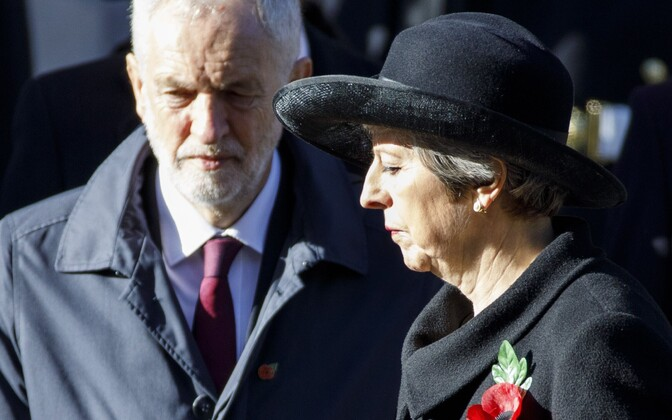 Briti peaminister, konservatiivide liider Theresa May ja Tööpartei juht Jeremy Corbyn.