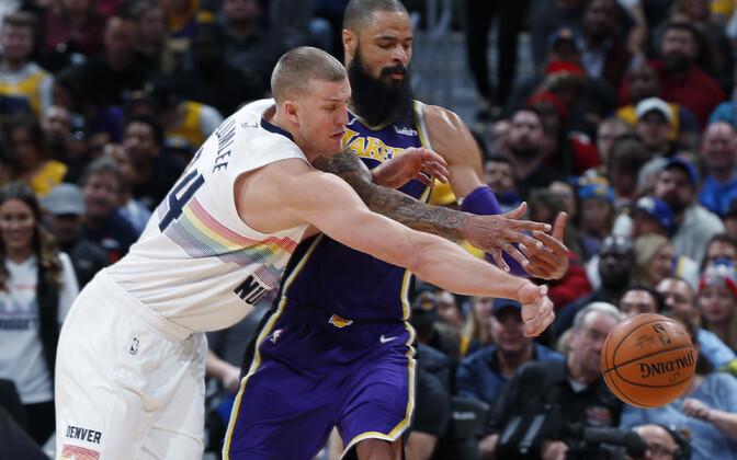 Denver Nuggets alistas visketäpsusega hädas olnud Los Angeles Lakersi ja teenis neljanda järjestikuse võidu