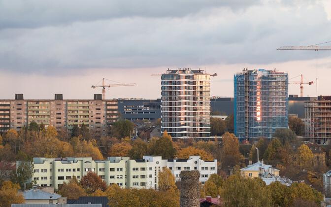 Строящиеся жилые дома в Таллинне.