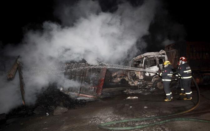 Hiinas Zhangjiakous toimus keemiatööstuse lähedal plahvatus, kus osales 50 sõidukit