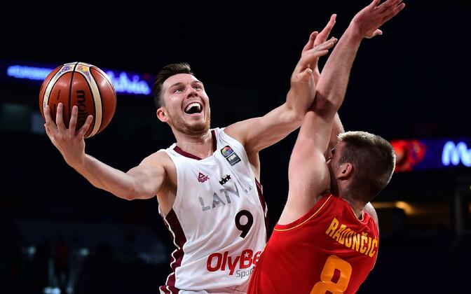 Läti korvpallikoondis võttis kodus vastu napi kaotuse Montenegrolt