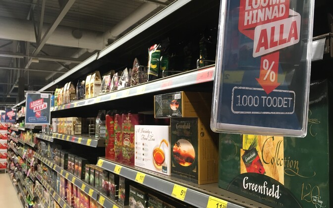 At a supermarket in Tallinn. Image is illustrative