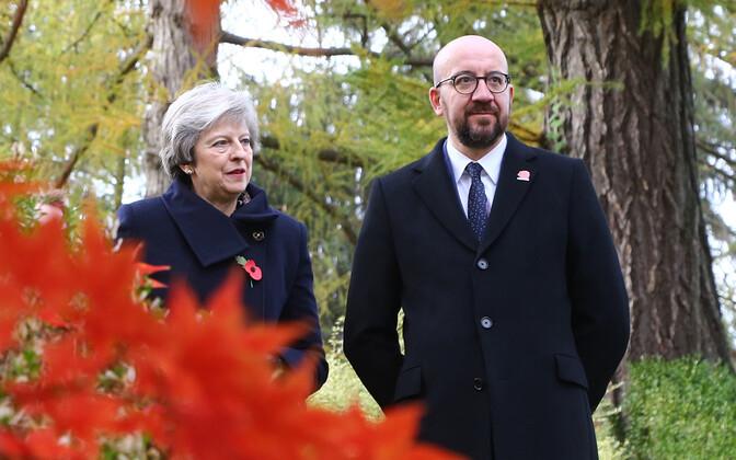Suurbritannia peaminister Theresa May ja Belgia valitsusjuht Charles Michel.