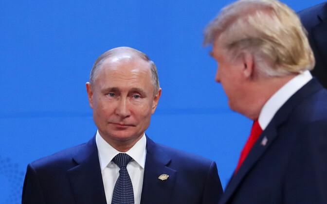 Venemaa president Vladimir Putin ja USA president Donald Trump Buenos Aireses G20 kohtumisel.
