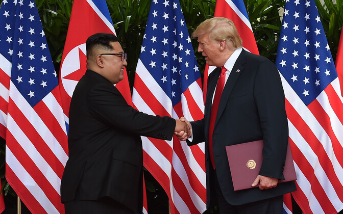 Встреча Дональда Трампа и Ким Чен Ына 12 июня 2018 года..