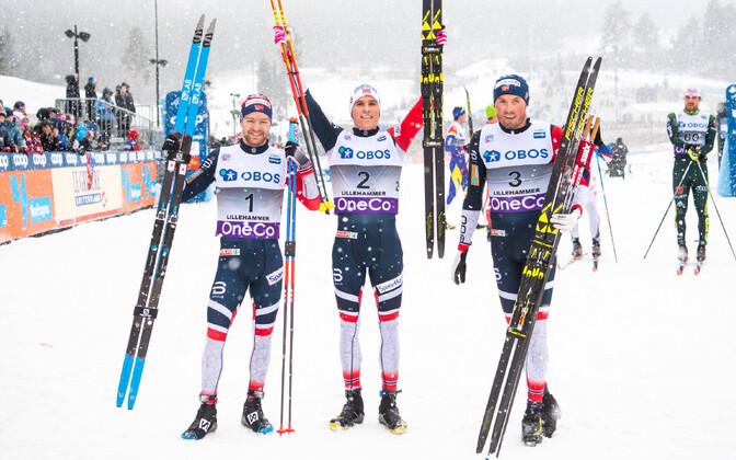 Norra murdmaasuusatajad teenisid Lillehammeris kolmikvõidu