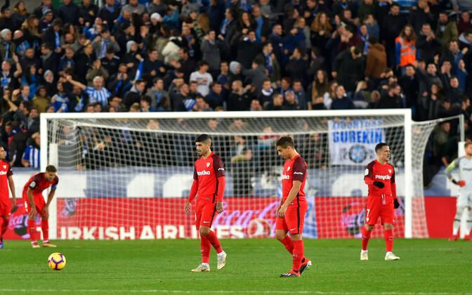 Pettunud Sevilla mängijad.