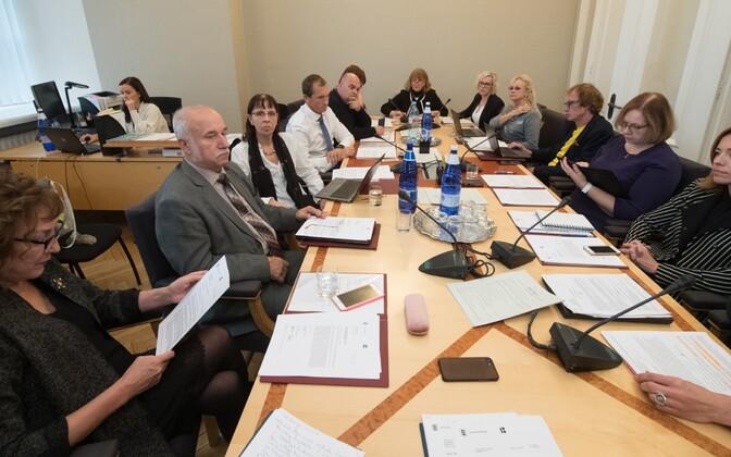 Sotsiaalkomisjoni istung 2018. aasta oktoobris