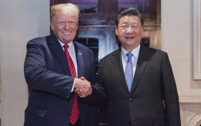 Donald Trump ja Xi Jinping.
