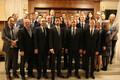 Tallink Grupi juhatus, Helsingi börsi president Henrik Husman ning Tallinki teisese noteerimise projekti meeskond ja partnerid Pörssitalos.