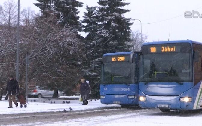 Автобусы в Ида-Вирумаа.
