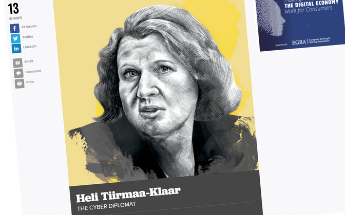 Heli Tiirmaa-Klaar in Politico's top 28 list.