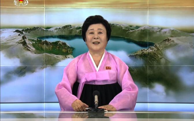 Põhja-Korea uudisteankur Ri Chun-hee.