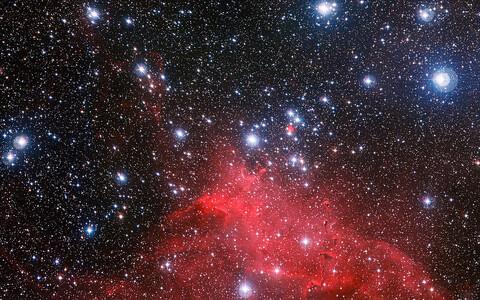 Täheparv NGC 3572. Suurem osa Maani jõudvast valgusest on pärit Päikeselt või teistelt Linnutee objektidelt.