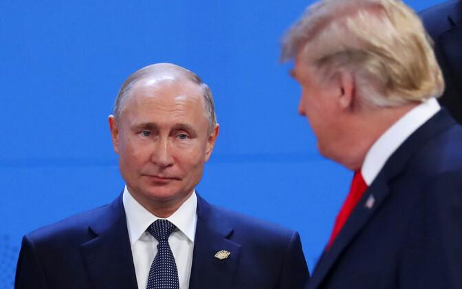 Vladimir Putin ja Donald Trump G20 tippkohtumisel.