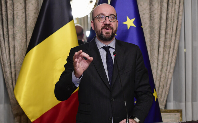 Belgia peaminister Charles Michel.
