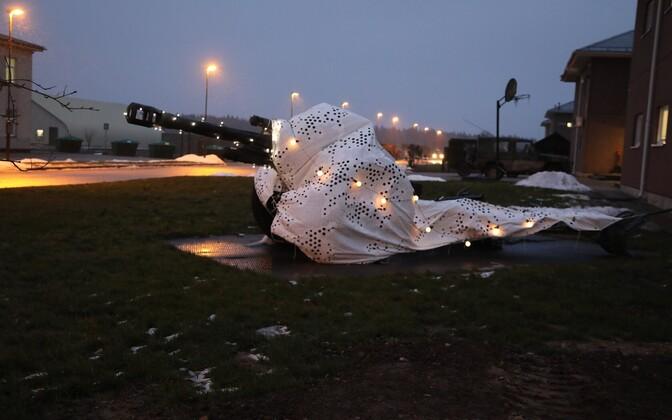 Конкурс на лучшую рождественскую инсталляцию в военном городке в Тапа.