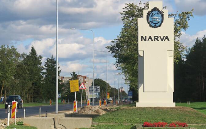 Въезд в Нарву со стороны Таллиннского шоссе.