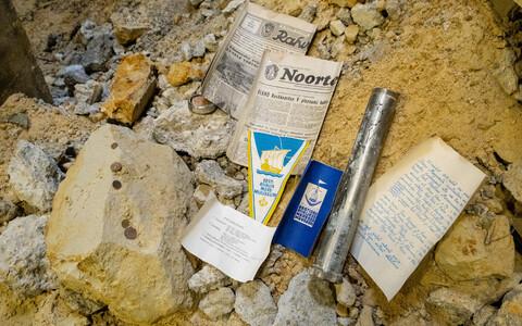 Paksu Margareeta muuseum-külastuskeskuse ehitustöödel leitud ajakapsel