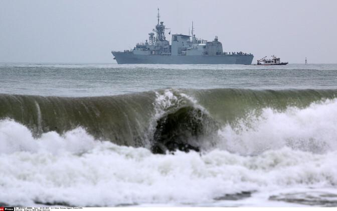 USS Fredericton 2015. aastal NATO õppuse raames Mustal Merel Varna lähistel.