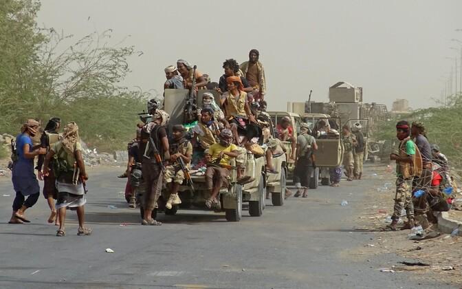 Jeemeni valitsusväed Hodeidas.