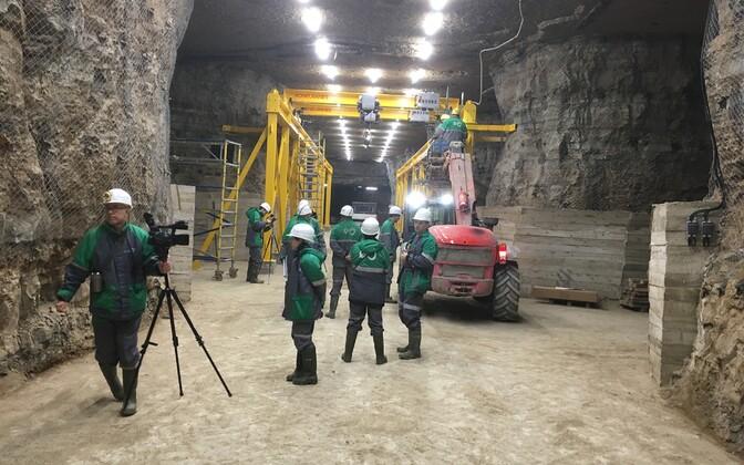 Estonia kaevanduse maa-alune remonditöökoda.