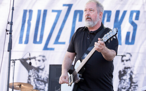Ansambli Buzzcocks laulja Pete Shelley (1955-2018).
