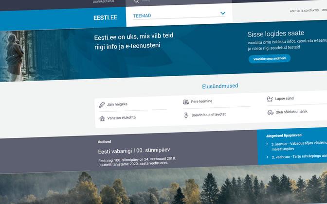 Eesti.ee avaleht