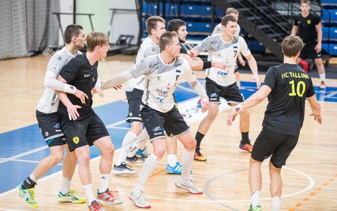 Käsipalli koduse meistriliiga kohtumine HC Tallinna ja Põlva Serviti vahel