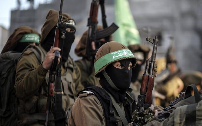 Hamasi sõjalise tiiva võitlejad.