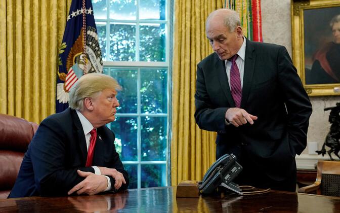 USA president Donald Trump ja kantseleiülem John Kelly.