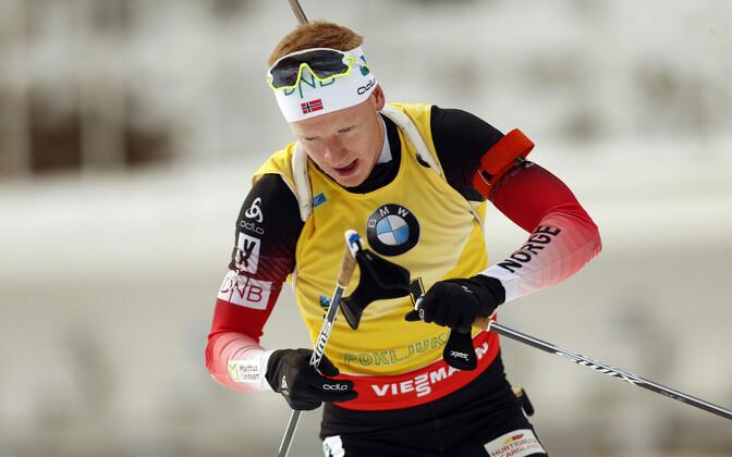Йоханнес Бё выиграл гонку преследования в Поклюке.