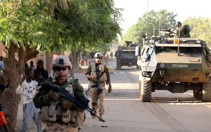 Estonian infantry platoon serving in Mali. Photo is illustrative.