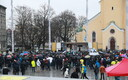 Anti-migration compact protest at Tallinn's Freedom Square on Sunday. 9 December 2018.