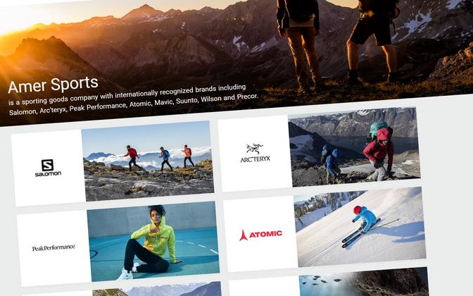 Amer Sportsile kuuluvad teiste seas kaubamärgid Salomon, Atomic, Peak Performance ja Wilson
