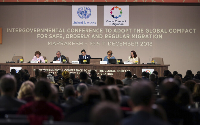 The UN conference in Marrakesh. 10 December 2018.