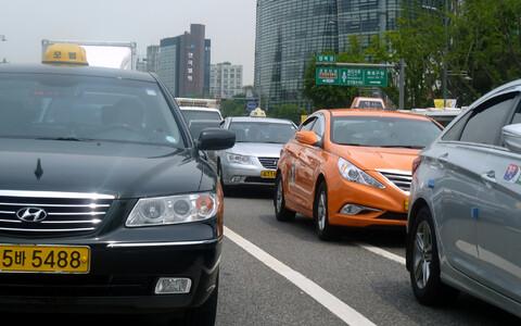 Такси в Сеуле.